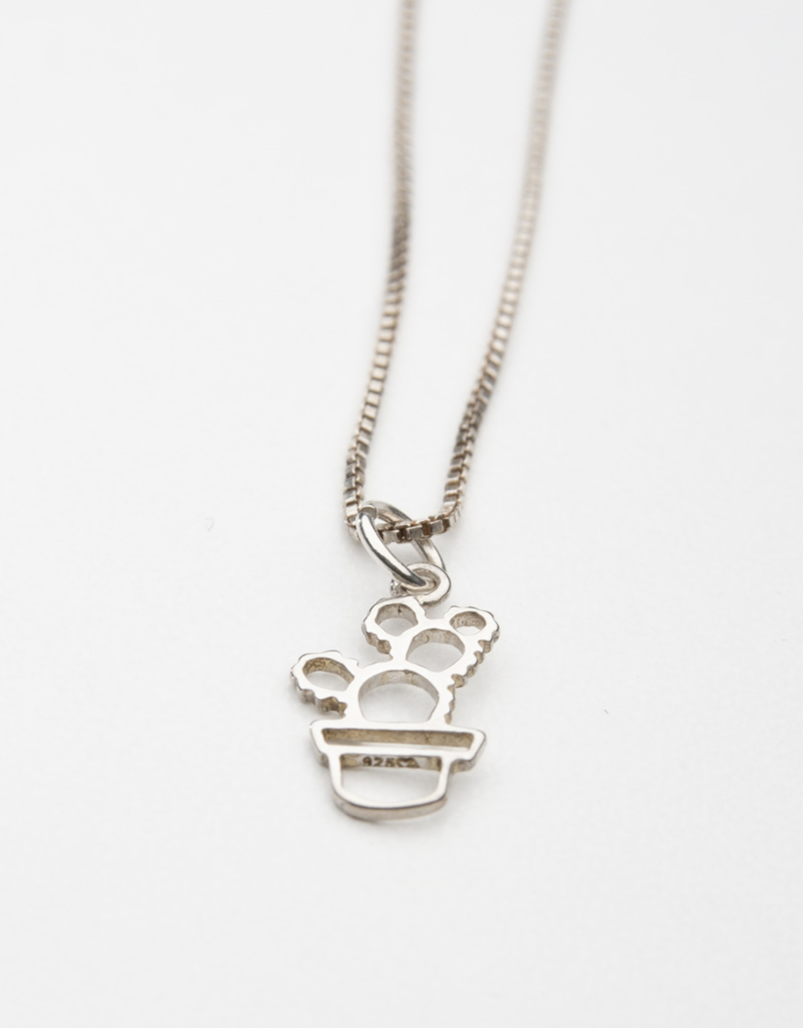 Dana Henning Silver Cactus Pendant Necklace
