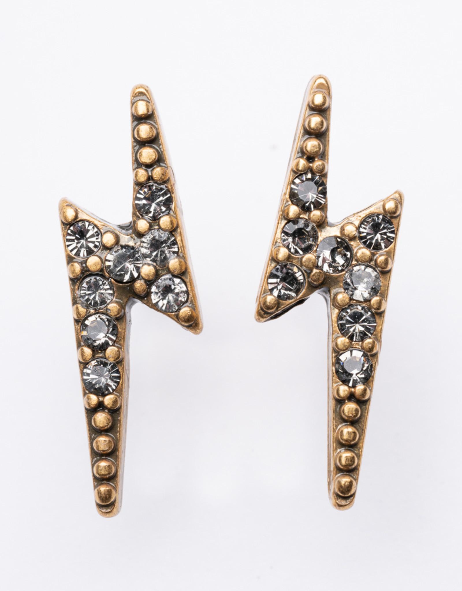 "MERX Jewelry A&C Lightening Bolt ""Diamond"" Studs"