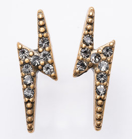 "MERX Jewelry A&C Lightening Bolt ""Diamond"" Studs"