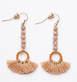 Garbo Mini Tassle Drop Earrings