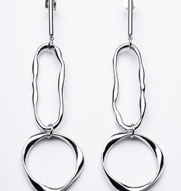Statement Grey Arlo Earrings