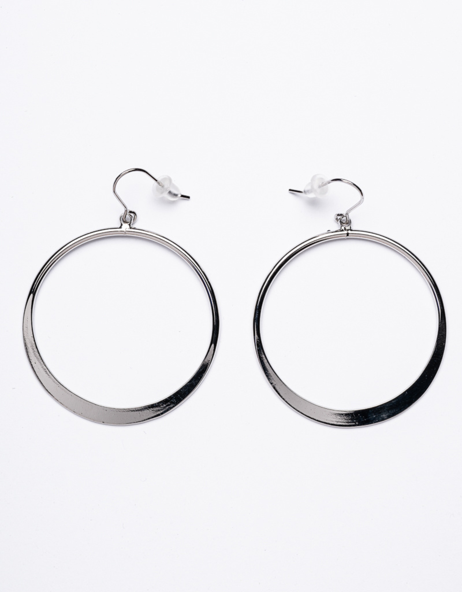 Garbo Silver Drop Hoops