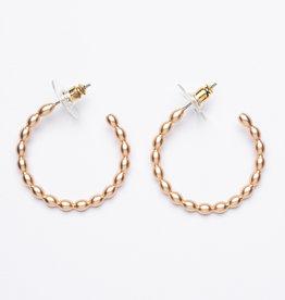 MERX Jewelry Matte Gold Hoops