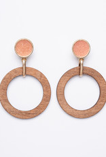 Garbo Wood Hoops