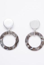 MERX Jewelry Grey Resin Drop Earrings
