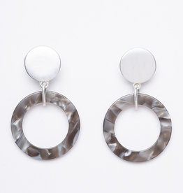 MERX Jewelry Grey Resin Drop Earrings