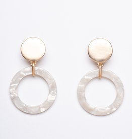 MERX Jewelry White Resin Drop Earrings