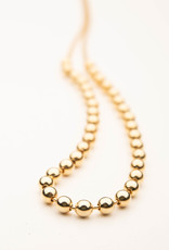 MERX Jewelry Gold Beaded Chain Necklace