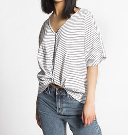 Molly Bracken Oversized V-Neck Twist-Front Top