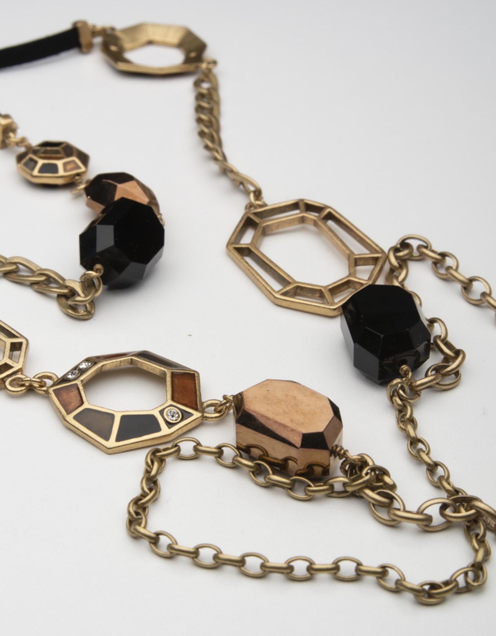 MERX Jewelry A&C Long Geometric Necklace