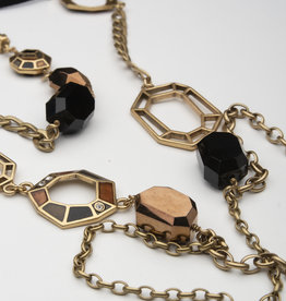 MERX Jewelry A&C Long Geometric Necklace