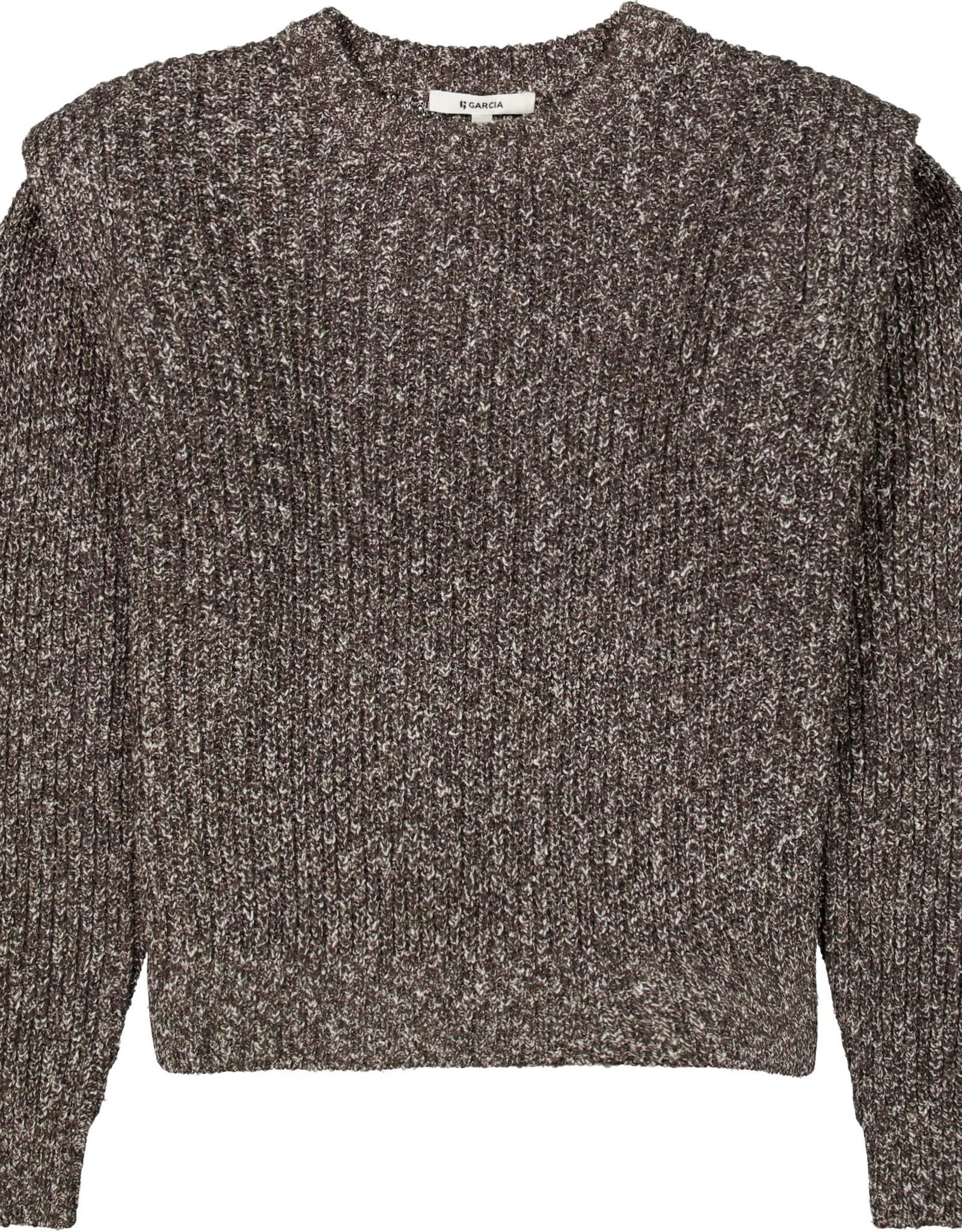 Garcia Textured Puff Shoulder Sweater
