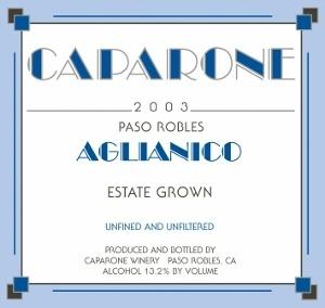 Caparone Aglianico Paso Robles 2017 750ml
