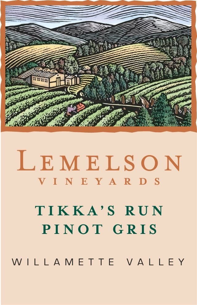 "Lemelson Vineyards ""Tikka's Run"" Pinot Gris Willamette Valley 2017 750ml"