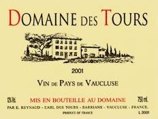 Domaine des Tours Vin de Pays de Vaucluse Résreve 2016 750ml