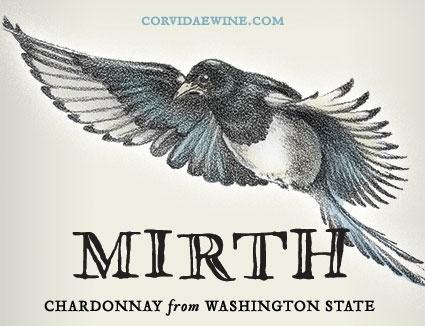 "Corvidae ""Mirth"" Chardonnay"" Yakima Valley Washington 2018 750ml"