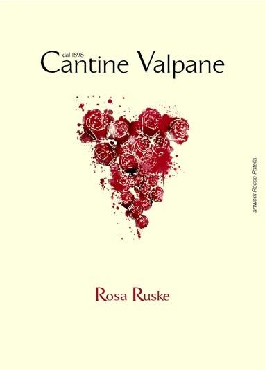"""Cantine Valpane """"Rosa Ruske"""" Vino Rosso 2016 750ml"""