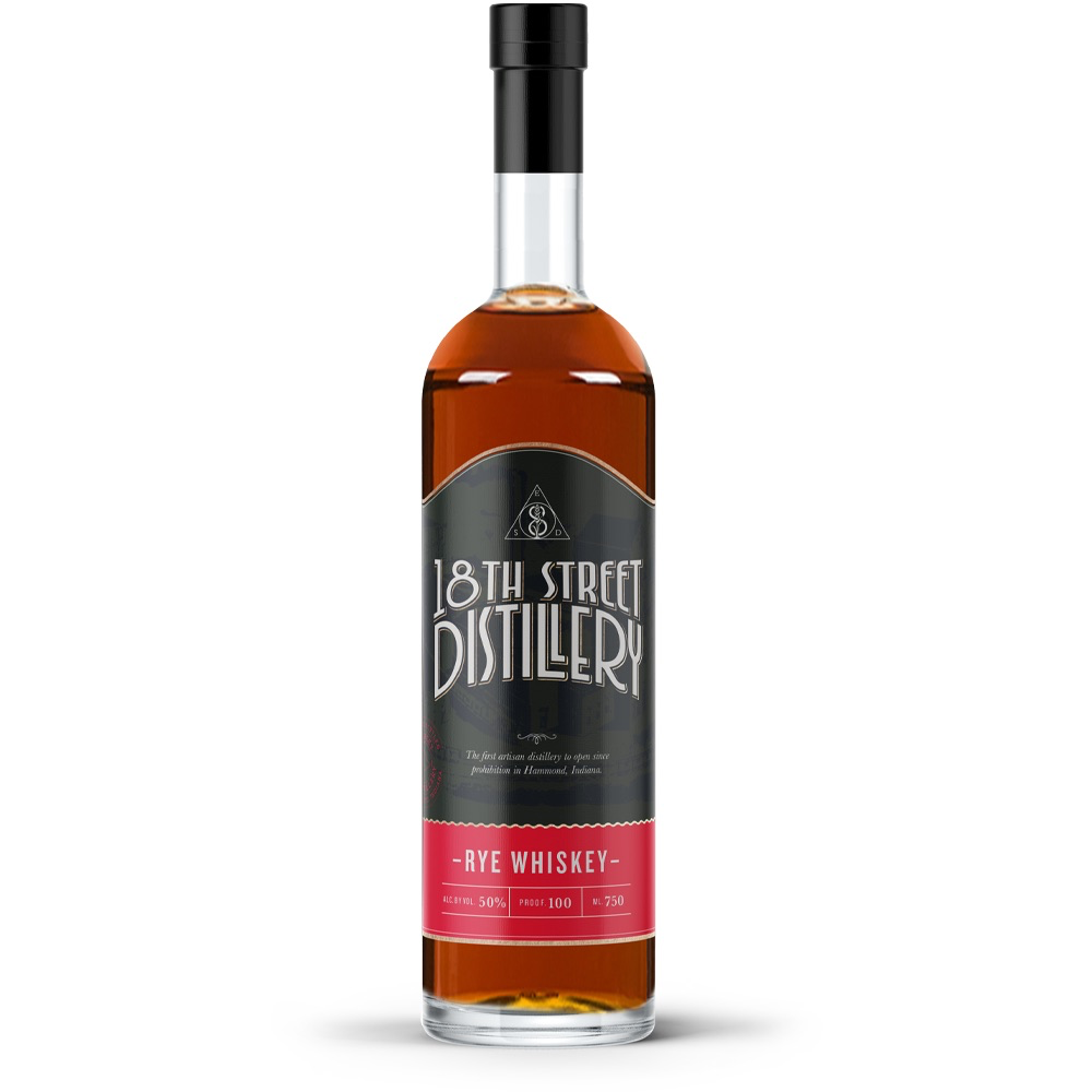 18th Street Distillery Rye Whiskey 750ml
