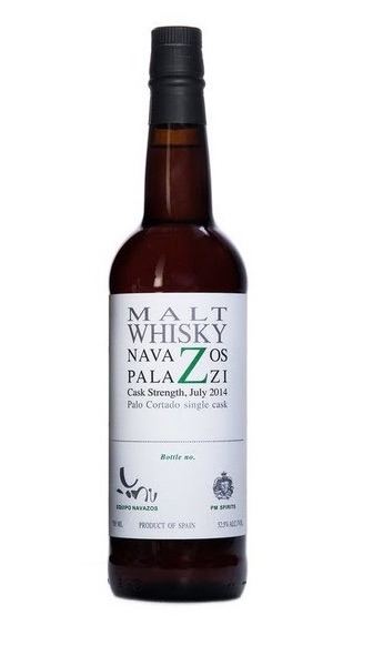 "Navazos Palazzi Malt Whisky Cask Strength , bottled in 2016 ""The remainder of our 3 Palo Cortado casks"" 52.5% abv 750ml"
