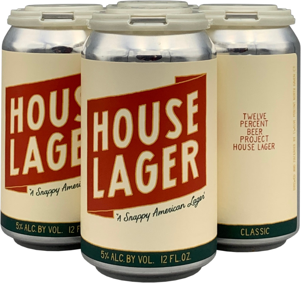 "Twelve Percent Beer Project ""House Lager"" 12oz 4pk"