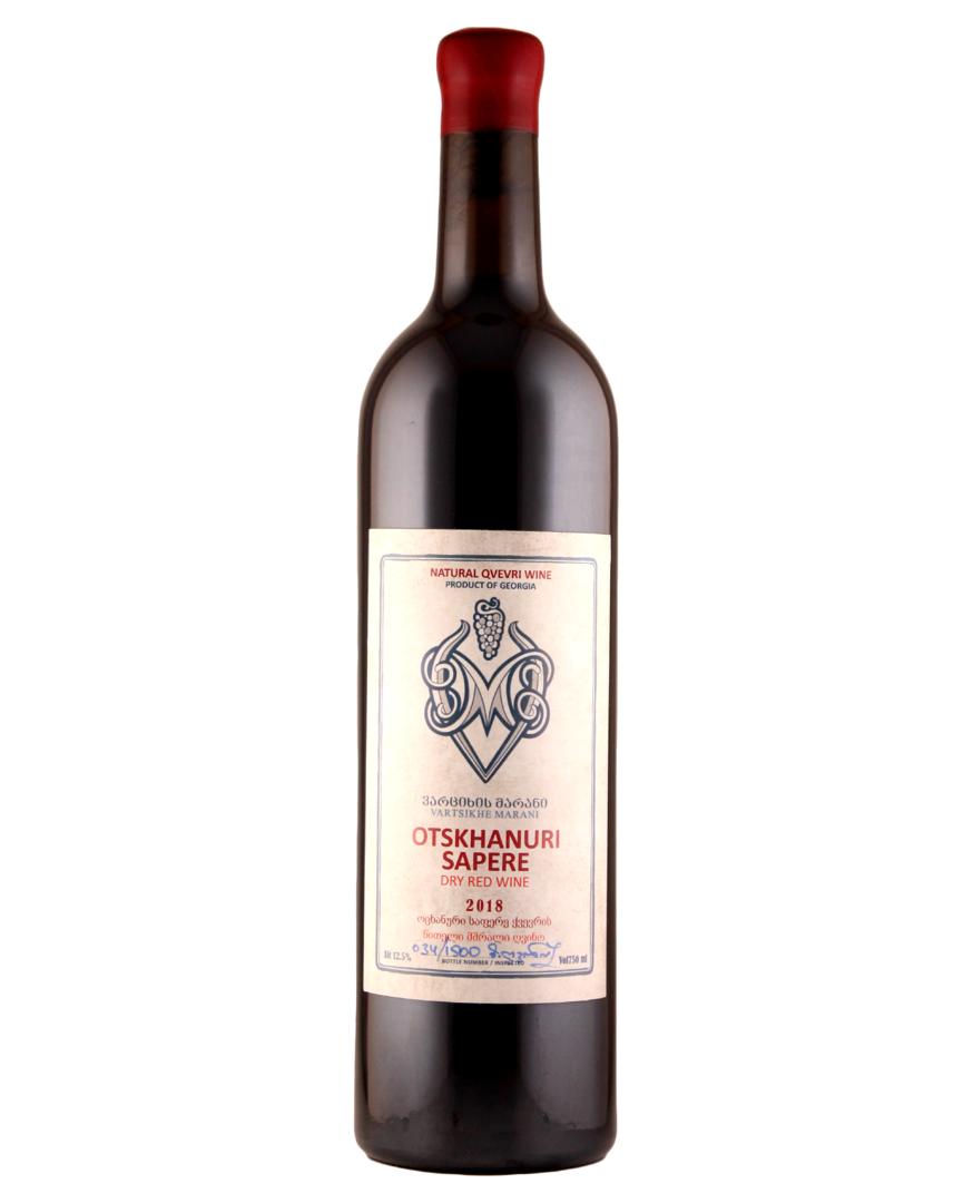 Vartsikhe Otskhanuri Sapere Natural Qvevri Dry Red Wine Feorgia 2018 750ml