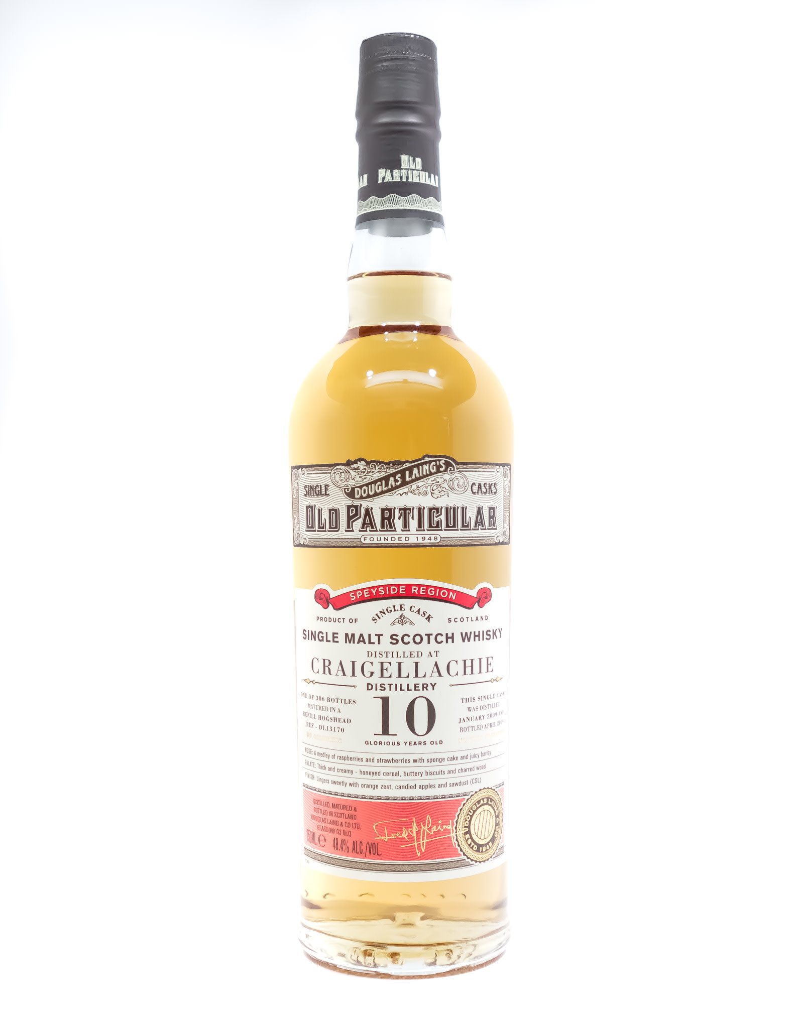 "Douglass Laing ""Old Particular"" Craigellachie 10 Year Single Malt Scotch Whisky 750ml"