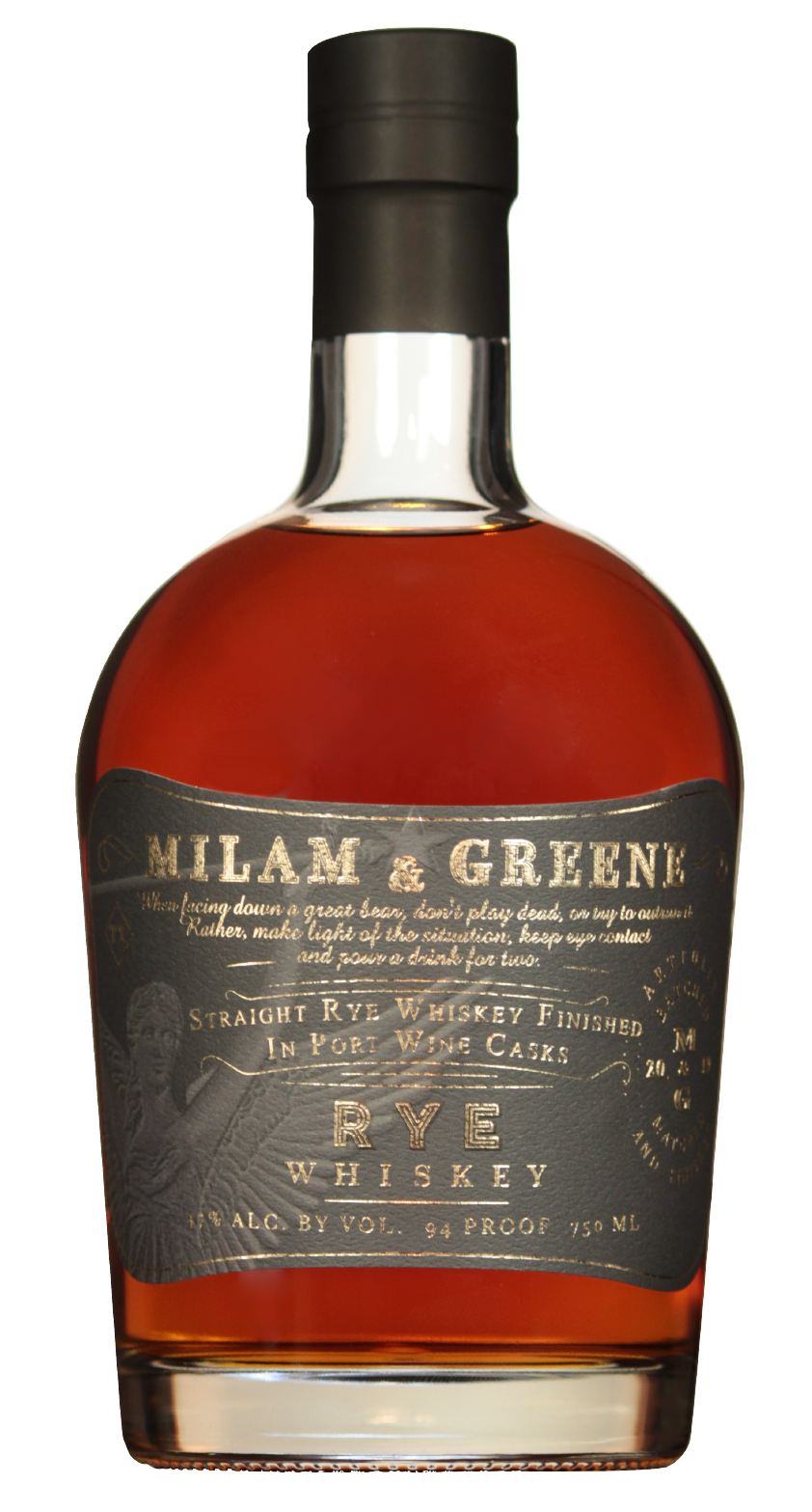 Milam & Greene Straight Rye Whiskey (Port Finish) 750ml
