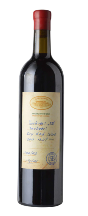 "Tchotiashvili Tavkveri ""SB"" Dry Red 2017 750ml"