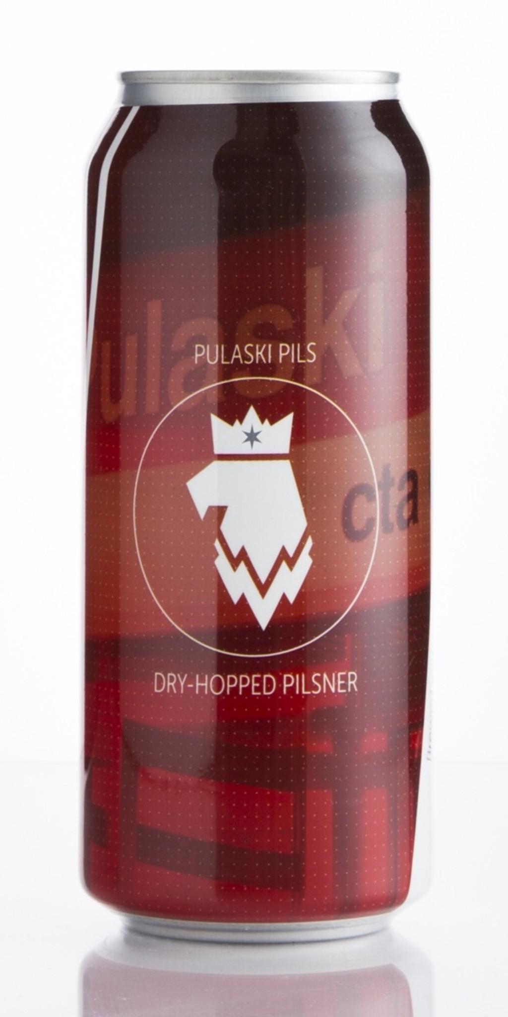 "Maplewood ""Pulaski Pils"" Dry Hopped Chicago Pilsner 16oz 4pk Cans"