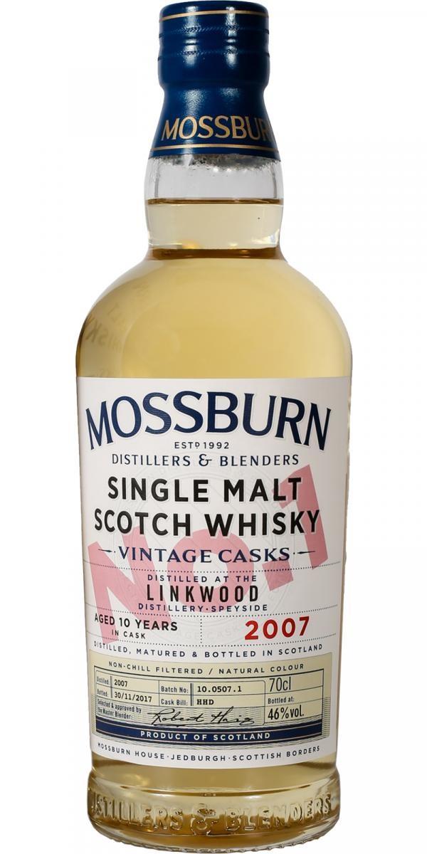 Mossburn Linkwood 10 Year Single Malt Scotch 750ml