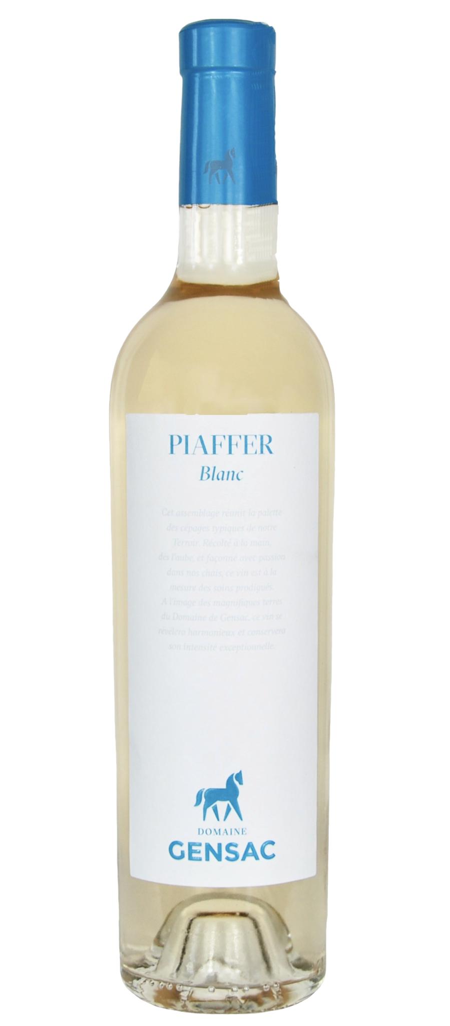 "Domaine Gensac ""Piaffer"" Gers IGP Blanc 2019 750ml"