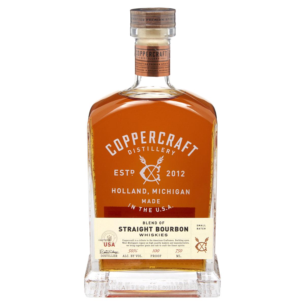 Coppercraft Straight Bourbon Whiskey 750ml
