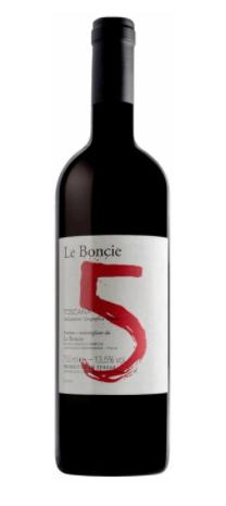 """Podere Le Boncie """"Cinque"""" Rosso di Toscana 2016 750ml"""