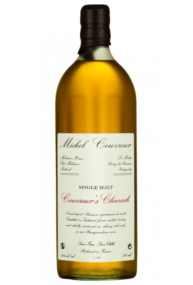 """Michel Couvreur """"Couvreur's Clearach"""" Spirit Distilled From Grain 750ml"""