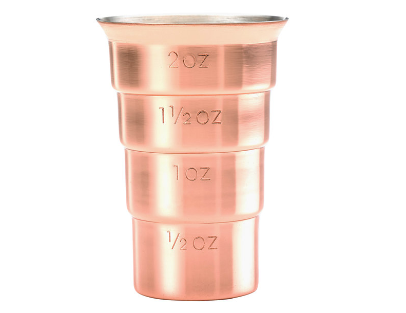 Stepped Jigger (No Handle) Copper Plated
