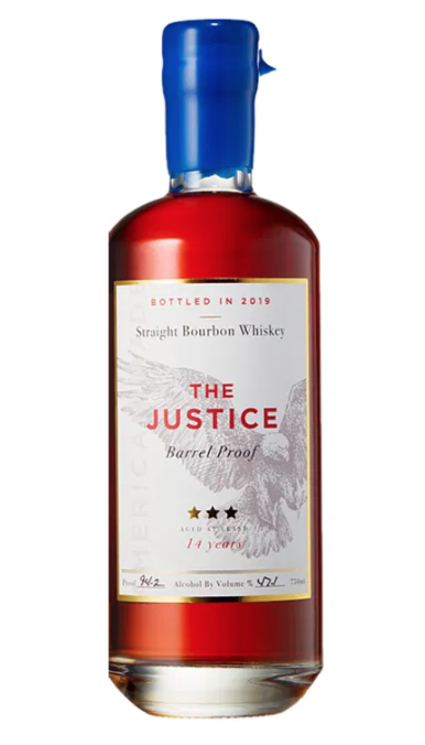 The Justice 16 Year Barrel Proof Straight Bourbon Whisky Bottled in 2020 750ml