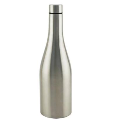 """Apollo Bev-Ware """"Chardonnay Wine Bottle"""" Triple-Wall Flask Stainless Steel  750ml"""