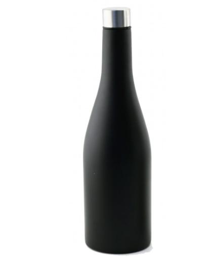 "Apollo Bev-Ware ""Chardonnay Wine Bottle"" Triple Wall Flask Matt Black 750ml"