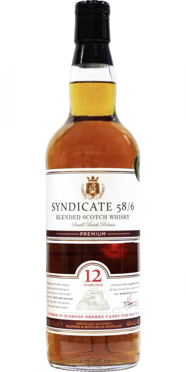 Syndicate 58/6 12 Year Blended Scotch Whisky 750ml