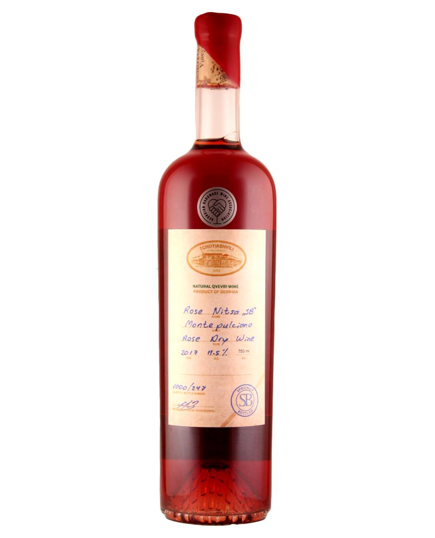 """Tchotiashvili Rose Nitsa """"SB"""" Rose Dry Red 2018 750ml"""