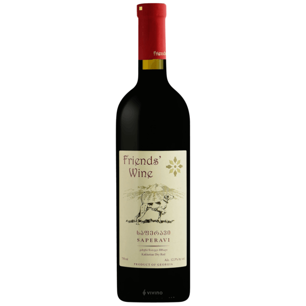 Friends Wine Saperavi Kakhetian Dry Red Wine Georgia 2018 750ml