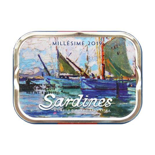 "Les Mouettes d'Avor Sardines ""Millesime 2019""  in Olive Oil 3oz"