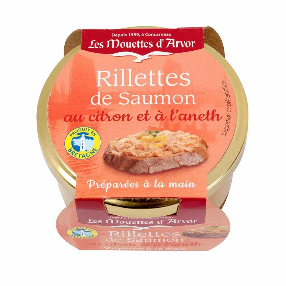 Les Mouettes d'Avor Rillettes de Saumon au Citron et l'aneth 125g