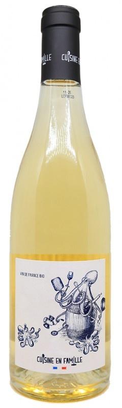 """Cuisine de Famille """"Les bras m'en tombent"""" Vin de France Blanc 2020 750ml"""
