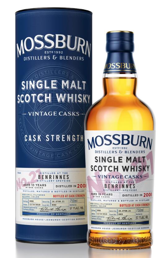 Mossburn Benrinnes 10 Year Single Malt Scotch Whisky 57.1% 750ml