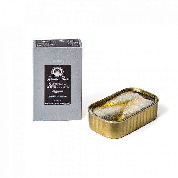 """Ramon Pena """"Silver Line"""" Sardines in Olive Oil 4oz"""