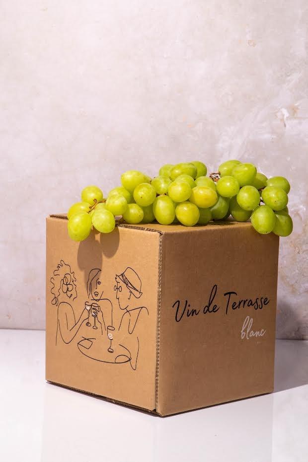 """Vin de Terrasse """"Bright"""" White Wine (Alsace) France 3L Box"""