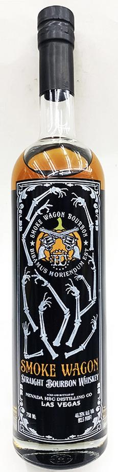 Nevada Distilling Smoke Wagon Straight Bourbon (Halloween Label) 750mL