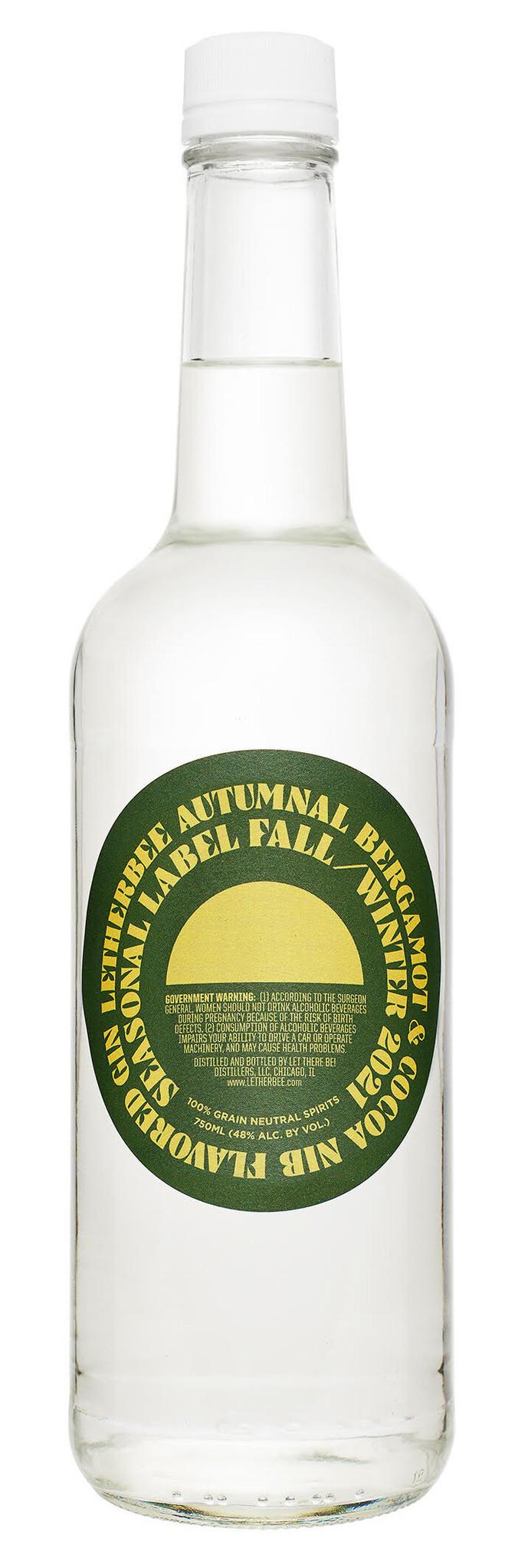 Letherbee Autumnal 2021 Limited Edition Bergamot & Cocoa Nib Gin  750ml