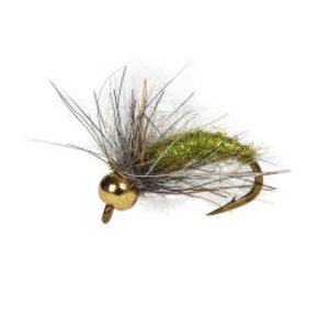 Holly Flies MH Green Caddis Larva with Brass Bead